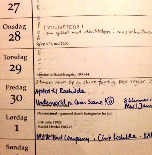 underworld i kalenderen